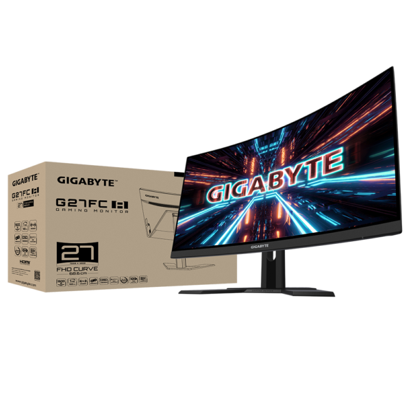 """Gigabyte G27FC A Gaming Monitor 27"""" FHD 165Hz 1ms Curved"""