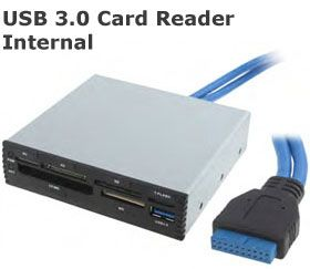"""Premium 3.5"""" Front Bay Card Reader With USB 3.0"""